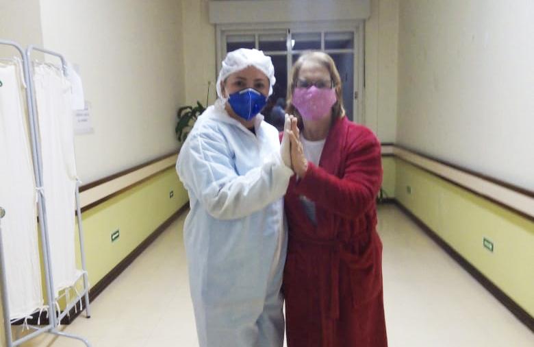 Clori Montanari, 62, recebeu alta do Hospital São João Bosco dia 28